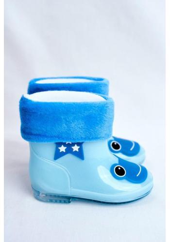 Dětské holínky se žabkou v modré barvě