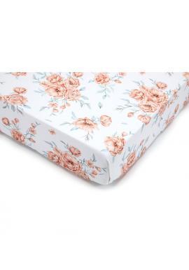 Dětské bavlněné prostěradlo s gumkou na postel - BLOOM REVIVAL