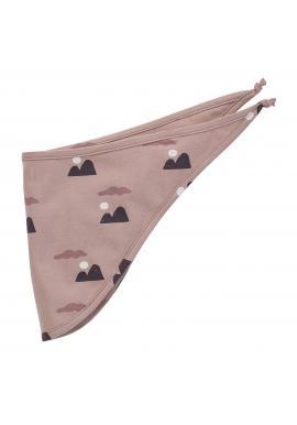 Stylový starorůžový dětský šátek s motivem hor