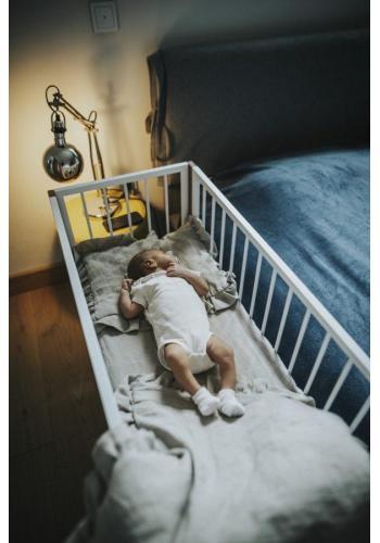 Houpací postýlka SIMPLE pro miminka - bílý buk