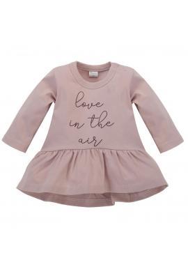 Stylová dívčí tunika růžové barvy s nápisem