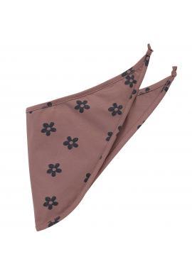 Bavlněný šátek pro holčičku v růžové barvě s motivem kvítků