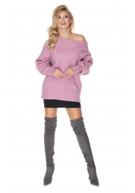 Dámský fialový oversize svetr pro dámy