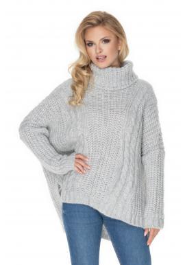 Rolákový oversize svetr pro dámy světle barvy