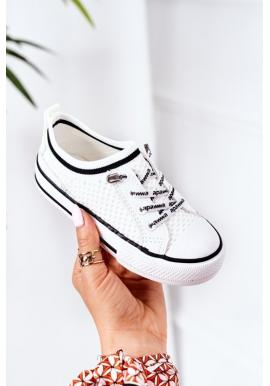 Stylové dětské tenisky bílé barvy