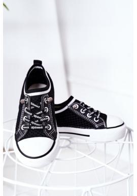 Dětské stylové tenisky černé barvy