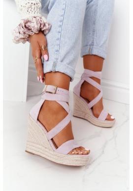 Sandály pro dámy na klínovém podpatku