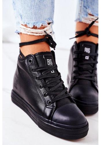 Kožené dámské Sneakers černé barvy značky Big Star