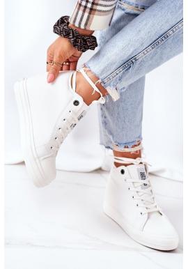 Dámské kožené Sneakers bílé barvy značky Big Star