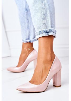 Saténové růžové lodičky pro dámy na vysokém podpatku