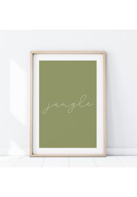 Nástěnný plakát s nápisem Jungle