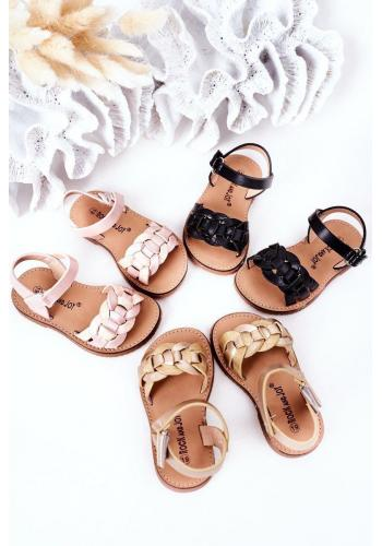 Módní dětské sandálky v růžové barvě