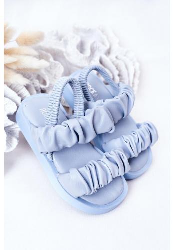 Módní dětské sandálky ve světlemodré barvě