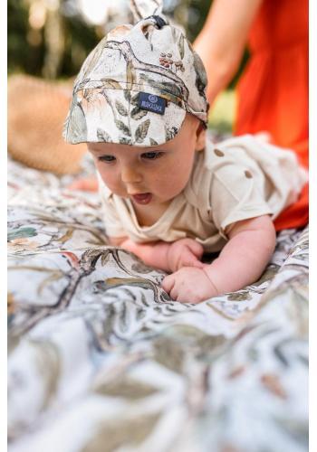 Dětský šátek s kšiltem s motivem víl na gumičce - 100% bambus
