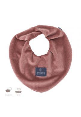 Oboustranný sametový šál na suchý zip v broskvové barvě