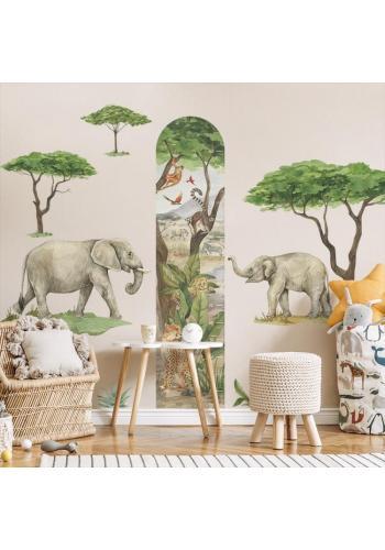 Sada nálepek v podobě slonů z kolekce Safari