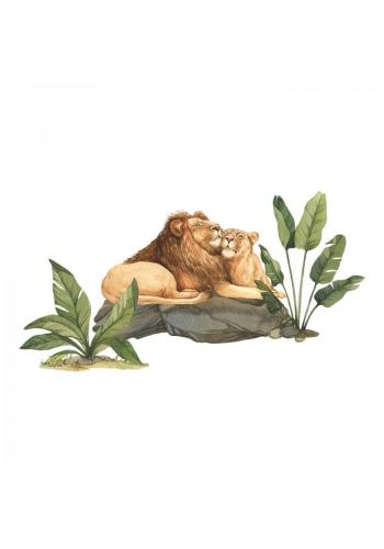 Sada nálepek v podobě lvů