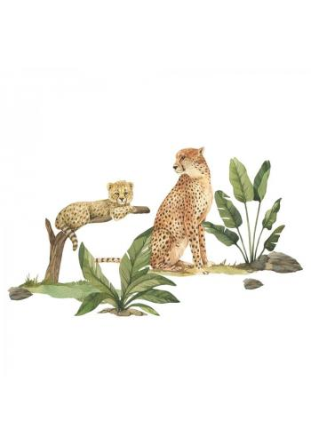 Safari sada nálepek v podobě gepardů