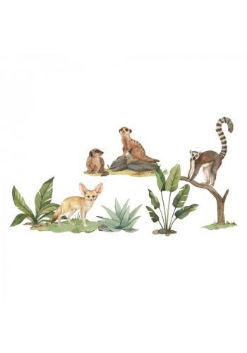 Sada safari nálepek v podobě malých divokých zvířat