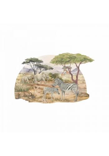 Nástěnná nálepka se Safari motivem