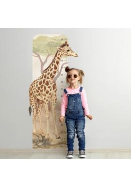 Dětský výškový metr na zeď s motivem žirafy