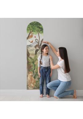 Nástěnný výškový metr s motivem safari