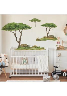 Sada nálepek z kolekce safari v podobě stromů