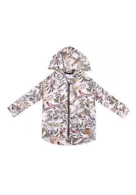 Dětské bavlněné mikiny s kapucí a s motivem ornitologie