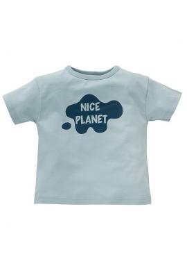 Chlapecké triko s nápisem v modré barvě