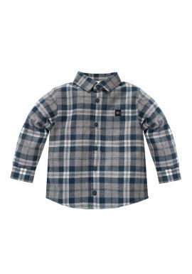 Károvaná košile pro chlapce v modré barvě