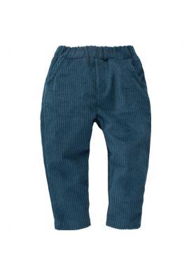 Manšestrové kalhoty pro chlapce v tyrkysové barvě
