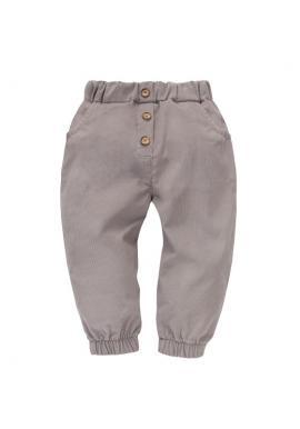 Dívčí šedé manšestrové kalhoty