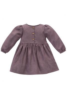 Módní dívčí tmavě růžové šaty