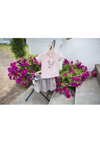Dívčí tričko s krátkým rukávem v růžové barvě