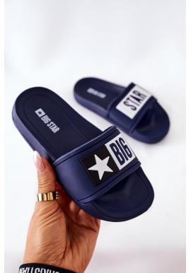 Dětské módní pantofle BIG STAR v tmavě modré barvě