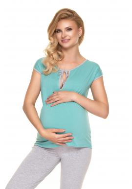 Mátové dvoudílné těhotenské a kojící pyžamo